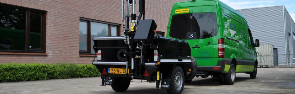 Hydraulische kernboormachine voor asfalt- en betonboringen