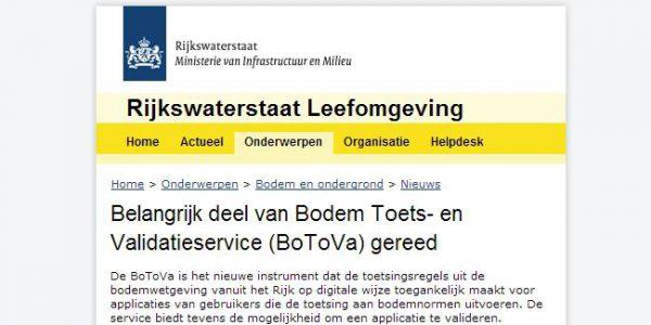 Belangrijk Deel BoToVa In Werking Voor Kwaliteitsbeoordeling Van Grond, Bagger En Grondwater