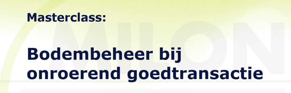 Masterclass Bodembeheer